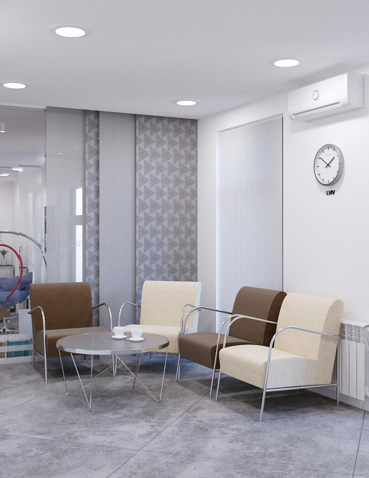 Дизайн інтер'єру стоматології MM Plus