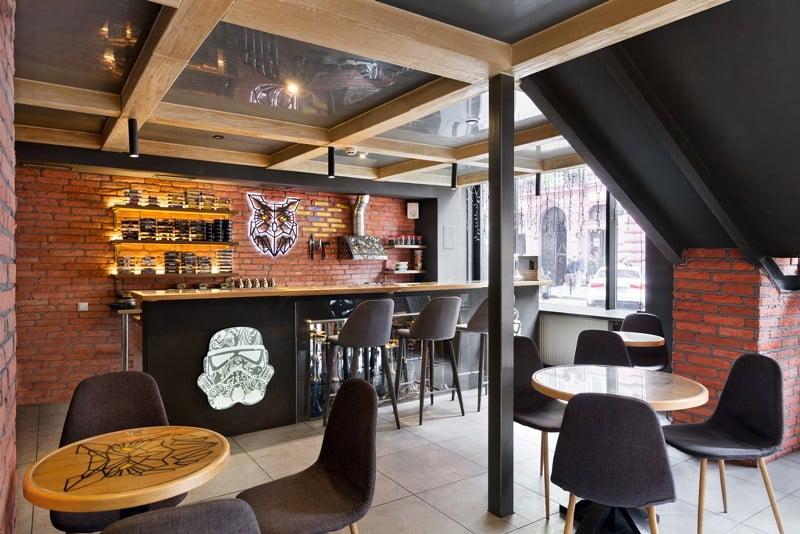 Дизайн інтер'єр ресторану.